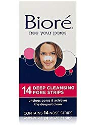 Biore Deep Cleansing Pore Strips , 14 Count Nose Strips (Packaging May Vary) - Pack of 3