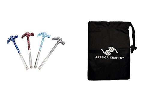 (Darice DIY Crafts Supplies Papercraft Tool Designer Series Hammer and Screwdriver Set Assorted Styles (6 Pack) 1104 101 Bundle with 1 Artsiga Crafts Small Bag)