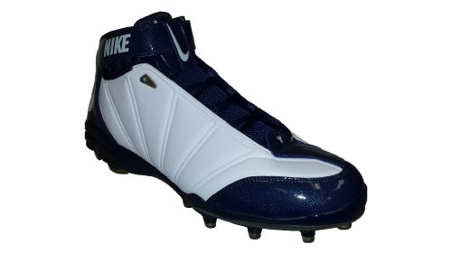 Nike Zoom Super Bad II TD Men's Football Cleats (15, White/Navy)