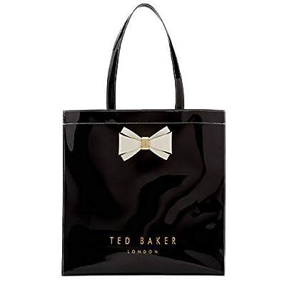 4c51d2d752d8 Image Unavailable. Image not available for. Colour  Ted Baker  Alacon  Bow  Detail Icon Shopper Bag Size Large (Black)