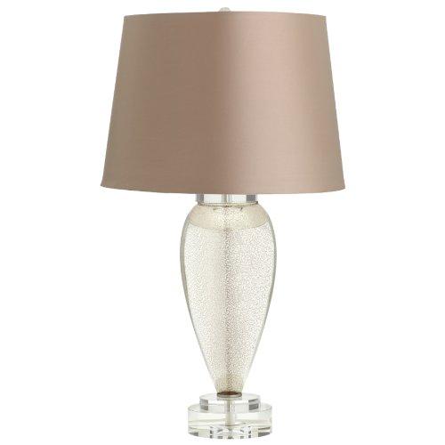 Modern End Table Lamp Glass Mercury Crystal Base