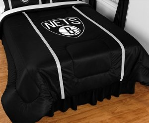 NBA Brooklyn Nets Sidelines Comforter, King, Black