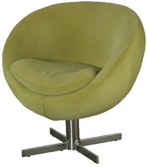 Retro Green Fabric Swivel Tub Chair