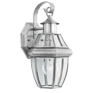 (Thomas Lighting SL941378 Heritage Collection 1 Light Outdoor Wall Sconce, Brushed Nickel)