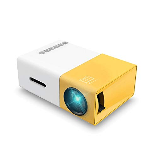 Mini Projector, YG300 Portable Pico Full Color LED LCD Video Projector for Children Present, Video TV Movie, Party Game, Outdoor Entertainment with HDMI USB AV Interfaces and Remote Control