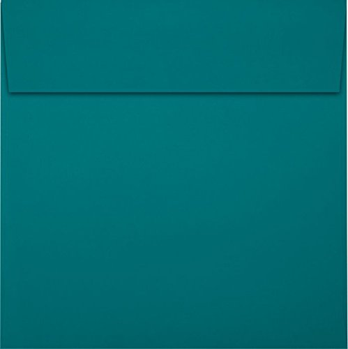 5 1/2 x 5 1/2 Square Envelopes - Teal (50 Qty) | Perfect for Thank You Notes, Gratuity Envelopes, Gift Tags, and Scrapbooking Projects | EX8515-25-50