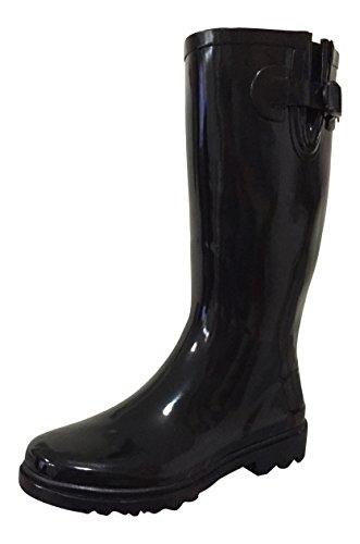 Rain Womens PSW Boots MSTKH Black Rubber ptxZU4xq