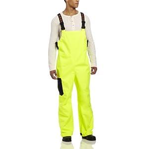 Grunden's Men's Gage Weather Watch Bib, Hi Vis Yellow, Large