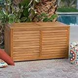Lift-top Design Atwood Outdoor Acacia Wood Storage Deck Box Comes in Natural Finish