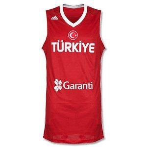 Türkei Adidas Basketball Trikot Nationalmannschaft L02528, Herren, rot, Gr. M