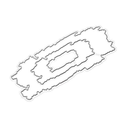 Cutting Dies,IHGTZS 2019 Independence Day DIY Die-Cut New Metal Stencils Album Paper Card circle template DIY Card Die-Cut New Snowflake Metal Stencils Scrapbooking Album Paper -