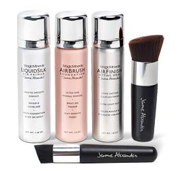 MagicMinerals Deluxe AirBrush Foundation Set by Jerome Alexander, 5 Piece Spray Foundation Kit, Medium