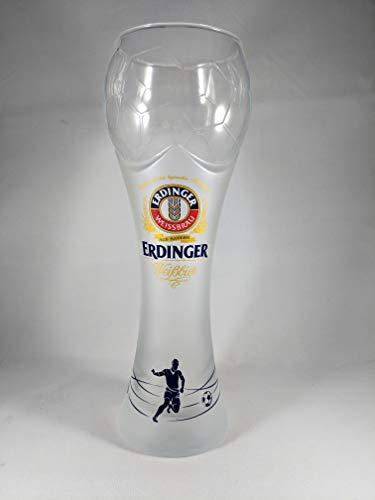 Erdinger Weissbrau German Beer Glass | XL Wheat World Cup Soccer Ball Style Glass
