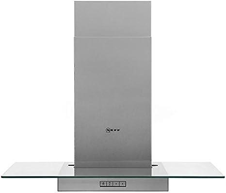Neff d87er22 N0b 70 cm chimenea campana – Acero inoxidable/cristal. Da claramente vista a tu cocina y crear una luz ambiental en la cocina: Amazon.es: Grandes electrodomésticos