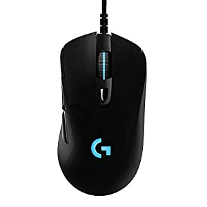 Logitech G403 Hero 25K Gaming Mouse, Lightsync RGB, Lightweight 87G+10G Optional, Braided Cable, 25, 600 DPI, Rubber…
