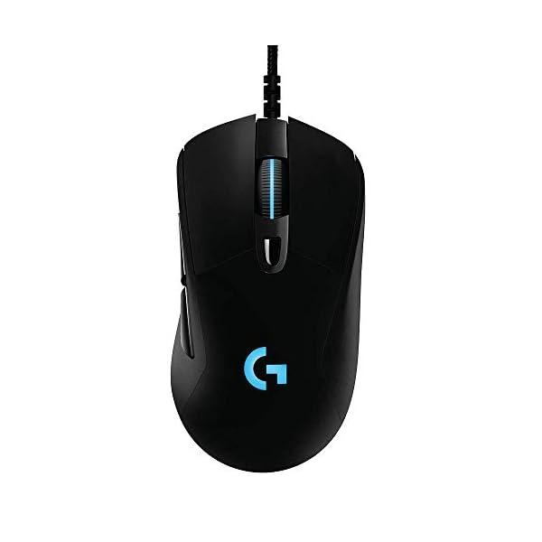 Logitech G403 Hero 25K Gaming Mouse, Lightsync RGB, Lightweight 87G+10G optional, Braided Cable, 25, 600 DPI, Rubber…