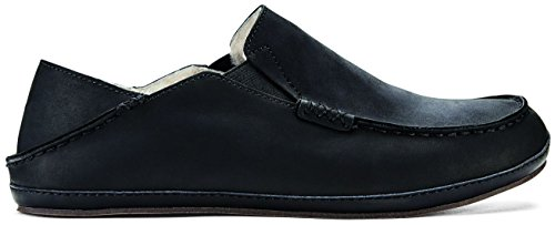 (OLUKAI Moloa Slipper - Men's Onyx/Onyx 14)