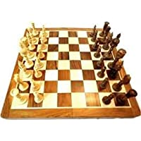 Jeval Chess Premium Wooden Handcrafted Folding Chess Set, 10X10 Inches