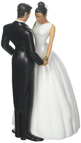 Couple Holding Topper Cake - Jamie Lynn Ty Wilson Cake 5-1/2-Inch Tall Topper Figurine, Hispanic Couple
