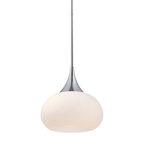(WAC Lighting PD-51814-CH Kiss LED Pendant Fixture, One Size, White/Chrome)