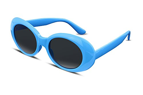 FEISEDY Candy Retro Acetate Blue Frame Clout Goggles Kurt Cobain Sunglasses B2253