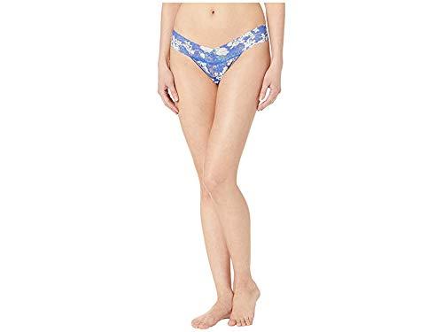 - Hanky Panky Women's Petite Signature Lace Low Rise Thong Fiji Blue One Size