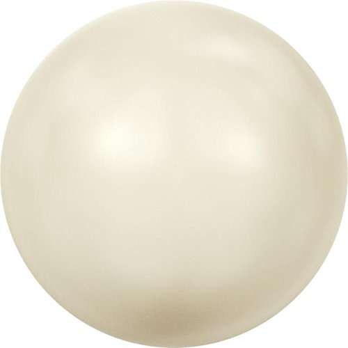 5809 Swarovski Pearls Round Small (No Hole) Crystal Cream Pearl | 2mm - Pack of 100 | Small & Wholesale Packs | Free Delivery Cream Glass Pearl Earrings