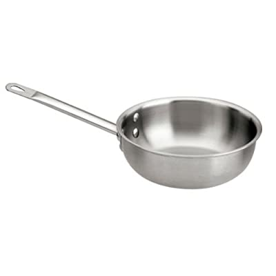 Paderno World Cuisine Triple Ply Stainless Steel Saucier Pan, 1.25 Quart