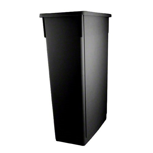 Update International  SSC-23BK Space Saver Trash Can, Black 23 Gallons (Kitchen Under Counter Trash Can)