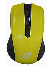 ZR1100 زيرو ماوس ليزار بدون سلك الوان اصفر خاص كمبيوتر ولاب توب