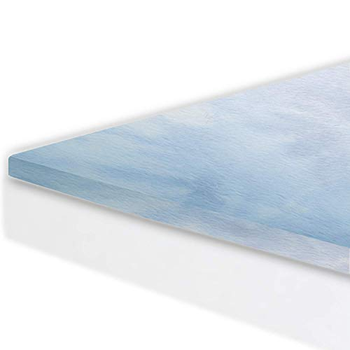 Gel Infused Memory Foaml Mattress Topper (King Size). for Better Sleep and Extra Cool Comfort. 60 Night Sleep Trial. Made in USA. Mattress Pad Perfect for Improving Existing Mattresses