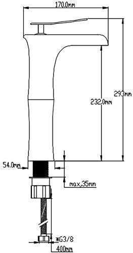 DP Grifería - Grifo monomando de lavabo efecto cascada ,modelo Amaranto: Amazon.es: Bricolaje y herramientas