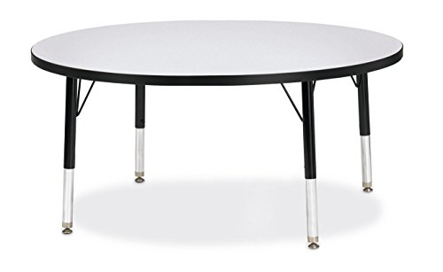 Jonti Craft Black Kitchen - Berries 6468JCT180 Round Activity Table, T-Height, 42