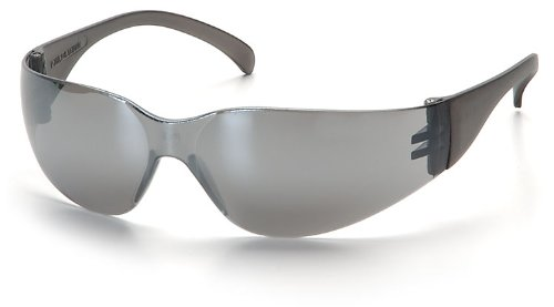 (12 Pair) Pyramex Intruder Glasses Silver Mirror Frame/Silver Mirror-Hardcoated Lens (S4170S)