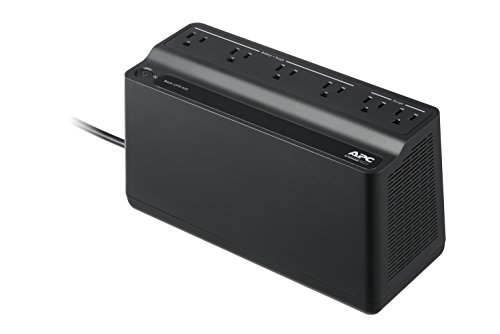 APC Back-UPS 2 850VA / 450W Battery Backup Uninterruptible Power Supply (UPS) 9 Total Outlets: 6 Outlets provide Battery Backup and Surge Protection; 3 Outlets offer Power Surge Protection Only Two 2.5A USB Charging Ports conveniently located on top of the unit provide power to your Smartphone or Tablet (even during power outages)