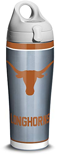 Tervis 1316272 Texas Longhorns Tradition Stainless Steel Insulated Tumbler with Lid, 24oz Water Bottle, Silver