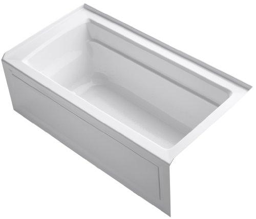 KOHLER K-1122-GRA-0 Archer BubbleMassage 5-Foot Bath, White ()