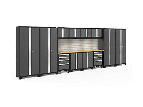 NewAge Products Bold 3.0 Gray 14 Piece Set, Garage Cabinets, 50416