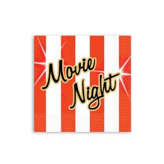 Movie Night Beverage Napkins - Movie Theater Movie Night Beverage Napkins