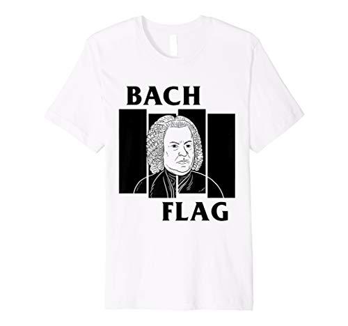 Punk Rock Composer Parody T-Shirt Bach Flag -