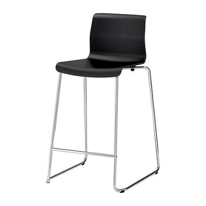 Super Ikea Glenn Bar Stool Black Chrome Plated Amazon Co Uk Inzonedesignstudio Interior Chair Design Inzonedesignstudiocom