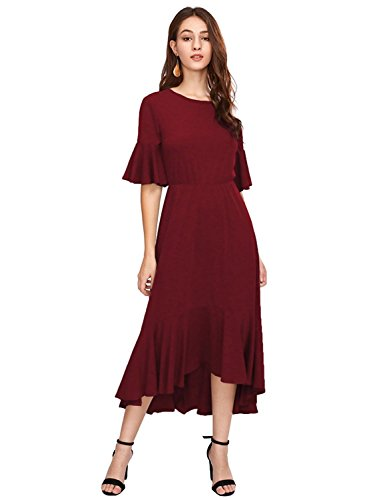 Womens Flutter Sleeve Dress - 9