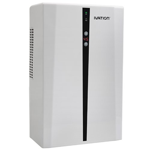 - Ivation IVADM45 Powerful Mid-Size Thermo-Electric Intelligent Dehumidifier w/Auto Humidistat - For Small Spaces of Up to 100 Square Feet