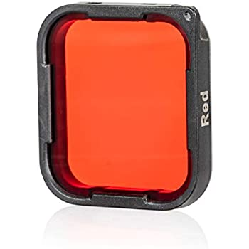 Chronos Red Dive / Snorkel Filter for GoPro Hero 7, GoPro Hero 6, GoPro Hero 5, Diving, Snorkeling, Scuba, Aqua, Underwater, Color Correction