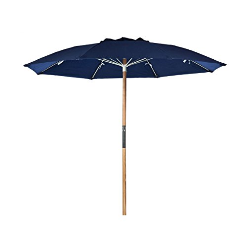 7.5 ft. Avalon Collection Fiberglass Commercial Grade Beach Umbrella with Ash Wood Pole & Acrylic Fabric