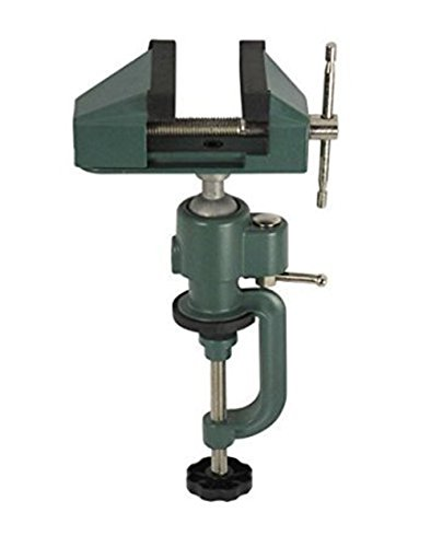 """BENCH VISE SWIVEL 3"""" TABLETOP CLAMP BASE VICE TILTS & ROTATES 360° HOBBY CRAFT"""