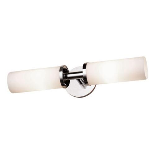 (Ginger 4682L/PN Kubic Double-Light Bathroom Fixture, Polished Nickel)