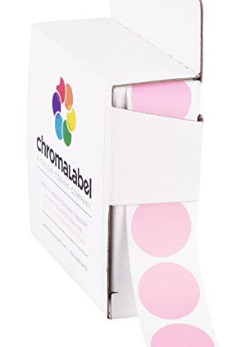 (ChromaLabel 3/4 inch Color-Code Dot Labels | 1,000/Dispenser Box (Pink))