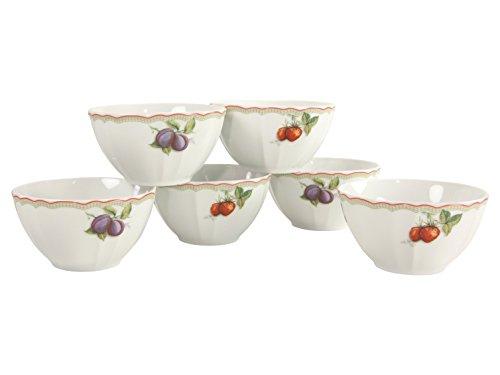 CREATABLE Flora Orchard Cereal Bowls Set, Porcelain, Multi-Colour, 15 x 15 x 20 cm ()