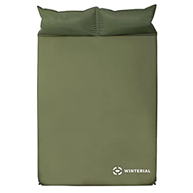 Winterial Double Self Inflating Sleeping Pad With Pillows / Camping / Backpacking / Travel / 2 person